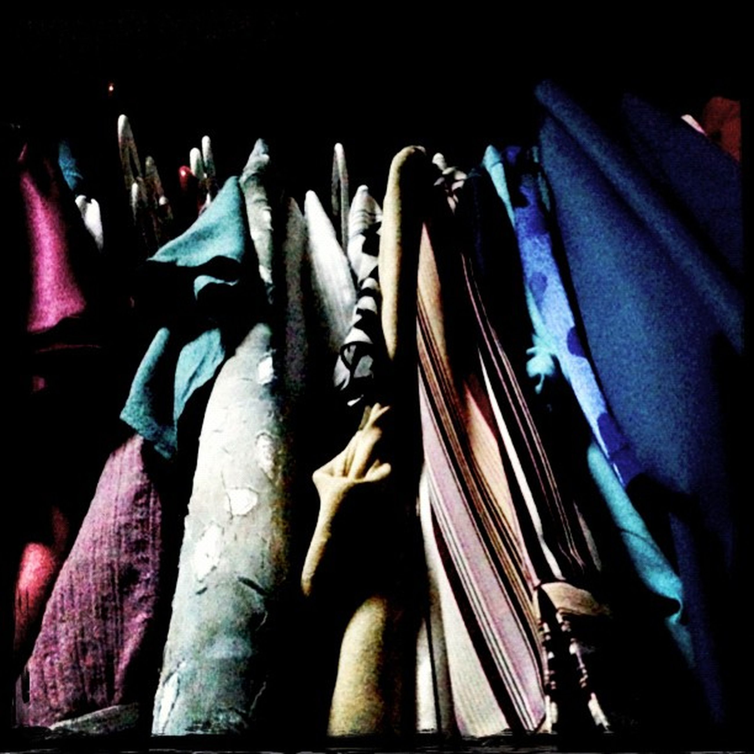 indoors, variation, textile, clothing, still life, close-up, fabric, paper, hanging, in a row, large group of objects, book, choice, no people, multi colored, arrangement, material, clothesline, side by side, abundance