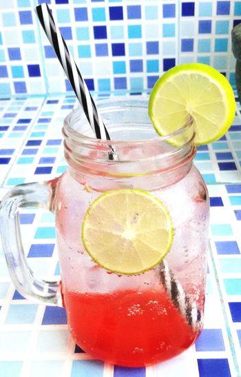 Strawberry Italian Soda Relaxing Dring Enjoying Life First Eyeem Photo Taking Photos