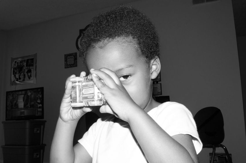 Zaheer being Zaheer! Photos by Kesi J. Marcus Emotions Fun North Carolina Adventure Blackandwhite Car Childhood Day Indoors  One Person Playing Real People Smiles Toddler  Toy The Still Life Photographer - 2018 EyeEm Awards The Portraitist - 2018 EyeEm Awards