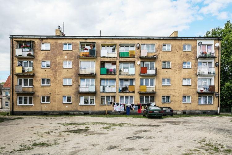 Residential buildings against sky