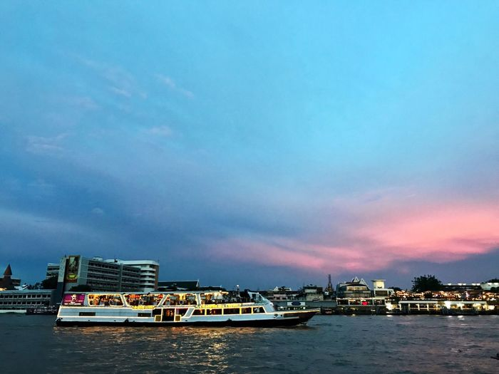 Transportation Mode Of Transport Water Sky Cloud - Sky River Outdoors City