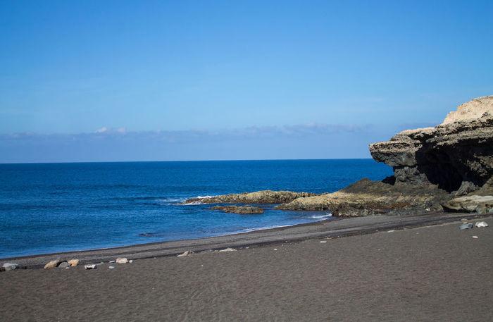 Ajuy Beach Beauty In Nature Canary Islands Coastline Fuerteventura Islas Canarias Kanaren Kanarische Inseln Mar Meer No People Playa Schwarz Schwarzer Sand Sea Strand Water