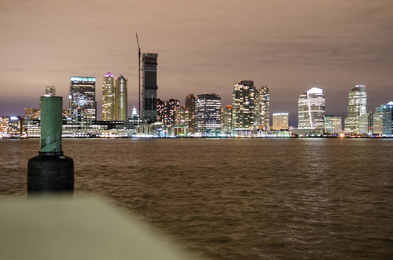 Cityscape of new jersey at night