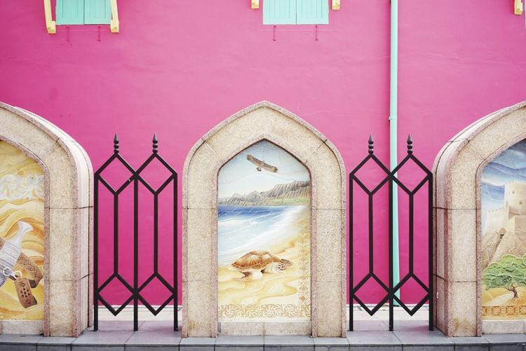 EyeEm Selects Pink Color Arch Architecture Built Structure Multi Colored No People Day Building Exterior Outdoors Close-up