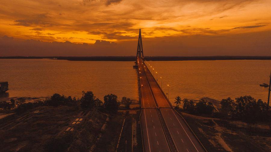 Sunset at sungai johor bridge