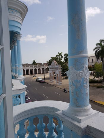 Cienfuegos City Water City Architectural Column Fountain Sky Architecture Built Structure Historic Triumphal Arch Place Of Interest Palace History Past