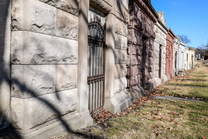 Historic city graveyard buildings
