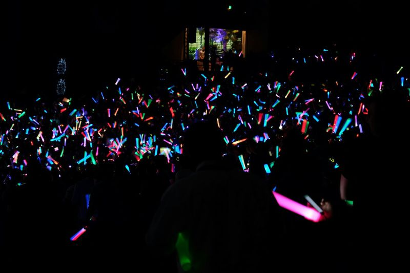 Illuminated Large Group Of People Night Crowd Enjoyment Music Event Nightlife Celebration Music Festival Arts Culture And Entertainment Performance Dark Youth Culture Excitement Concert Stage Person Fun via Fotofall