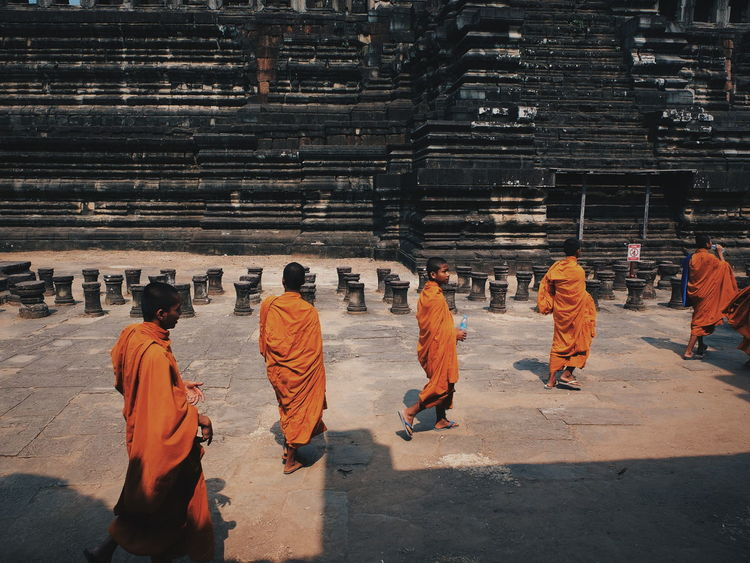 The Monks. Cambodia Casual Clothing Day Leisure Activity Lifestyles Medium Group Of People Mixed Age Range Monk  Outdoors People Portrait The Outdoors - 2016 Eyeem Awards The Portraitist - 2016 EyeEm Awards The Traveler-2016 Awards Visit