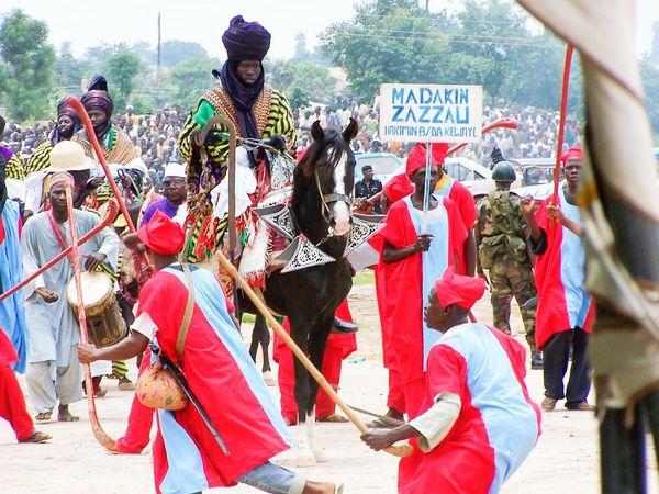 Nigerians Service Animals Horseback Riding HorsesShoot in Abuja, Nigeria, in 2007.