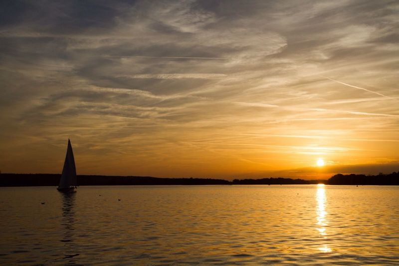 Sunset Sailing Totally Worth It 43 Golden Moments Water Reflection Sky Beauty In Nature Sailboat Waterfront Tranquility Sea Scenics No People Cloud - Sky Nature Outdoors Yacht