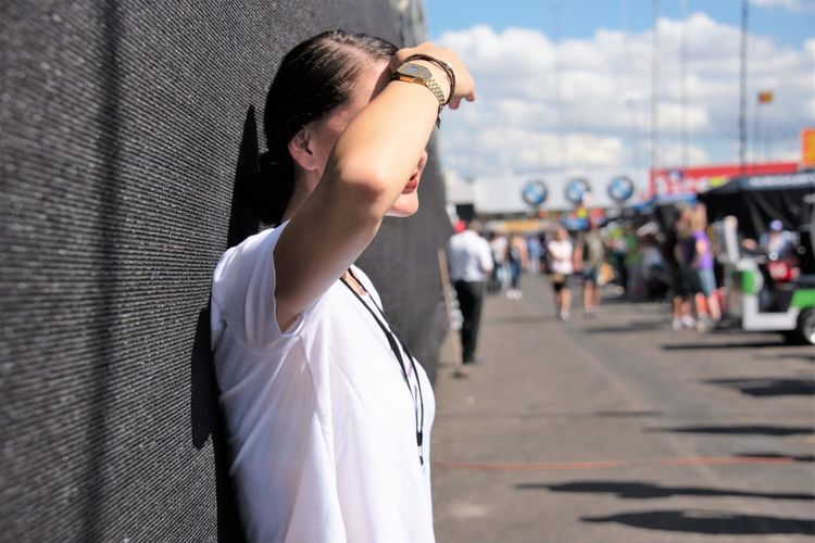 The Art Of Street Photography One Person Side View Standing Focus On Foreground Lifestyles Young Adult Incidental People Real People Day Waist Up Architecture City Leisure Activity Looking Casual Clothing Building Exterior Portrait Outdoors Hairstyle Contemplation Profile View