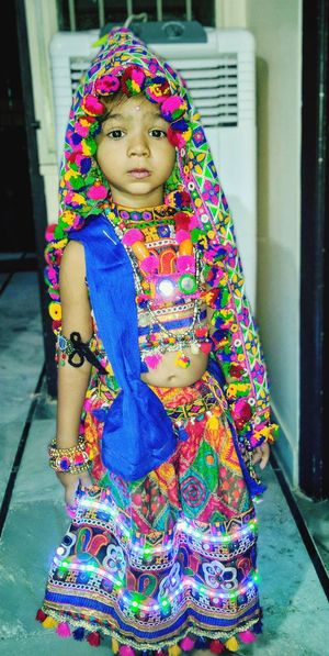 Multi Colored Full Length Portrait Traditional Dancing Posing Sari Indian Culture  Rajasthan Hinduism Sensuous Traditional Clothing Floral Pattern Street Art Carnival Bangle Carrying On Head Head And Shoulders 17.62° My Best Photo International Women's Day 2019