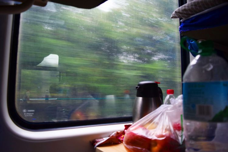 Zooming Window Glass - Material Train - Vehicle Transportation Indoors  Looking Through Window No People Beauty In Nature The Great Outdoors - 2017 EyeEm Awards Live For The Story BYOPaper! EyeEmNewHere Vacations Travel Destinations Forest Landscape Outdoors China Train Fast Night Train