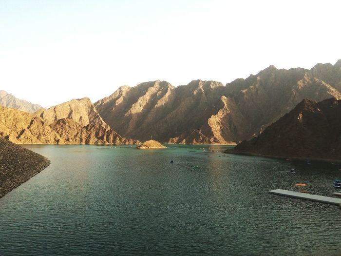 UAE , Dubai Uae,abudhabi Hatta Dubai EyeEm Selects Summer Exploratorium Water Mountain Lake Tree Sky Landscape Mountain Range