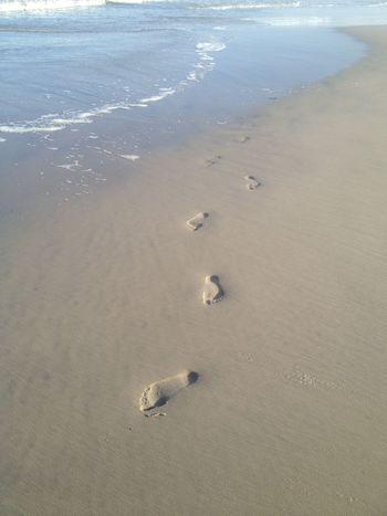 Follow Me Beach Photo Beach Photography Beautiful FootPrint Landscape Outdoors Perspective Sand Sea And Sand Summer