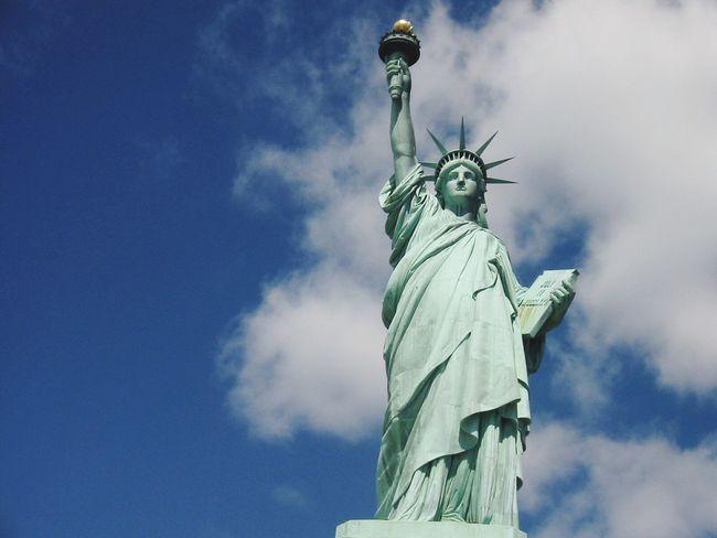 Statue of Liberty Statue Sky Sculpture