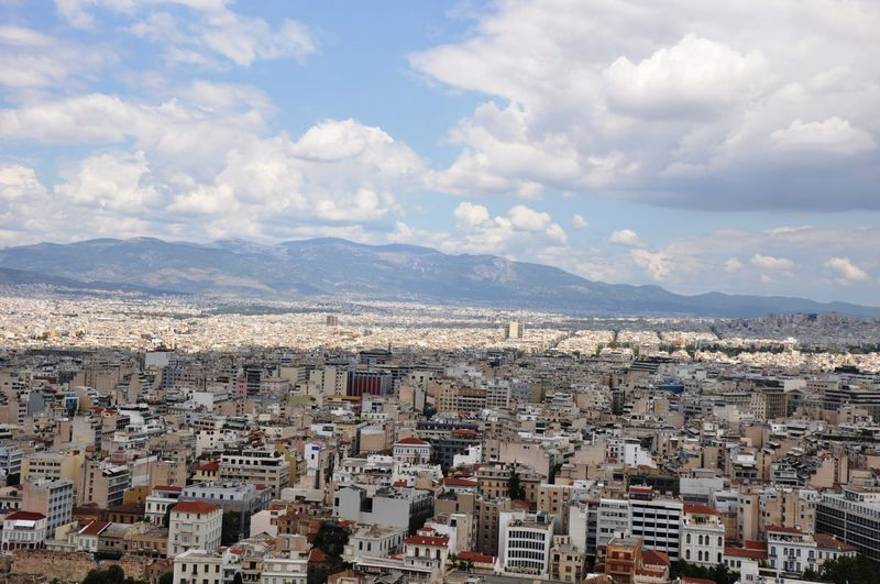 Athens day time View Acropolis Architecture Athens Beauty In Nature Building Exterior Built Structure City Cityscape Cloud - Sky Community Crowded Day High Angle View Mountain Mountain Range Nature Outdoors Residential Building Residential District Sky Town