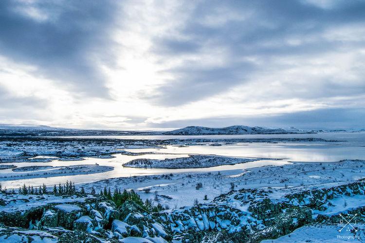 Cold Iceland Mountains Nature Pingvellir Sky Snow Sunrise Winter