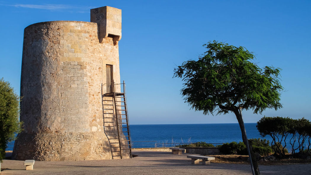 Sea Tree Beach Sky Day Outdoors No People Clear Sky Water Blue Architecture Nature Mallorca (Spain) Manuelkiese Mallorcaisland Mallorcaphotographer Live For The Story