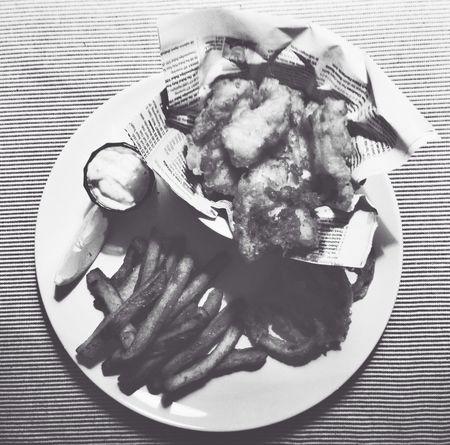 Homemade Fishandchips in Black And White - Yummi