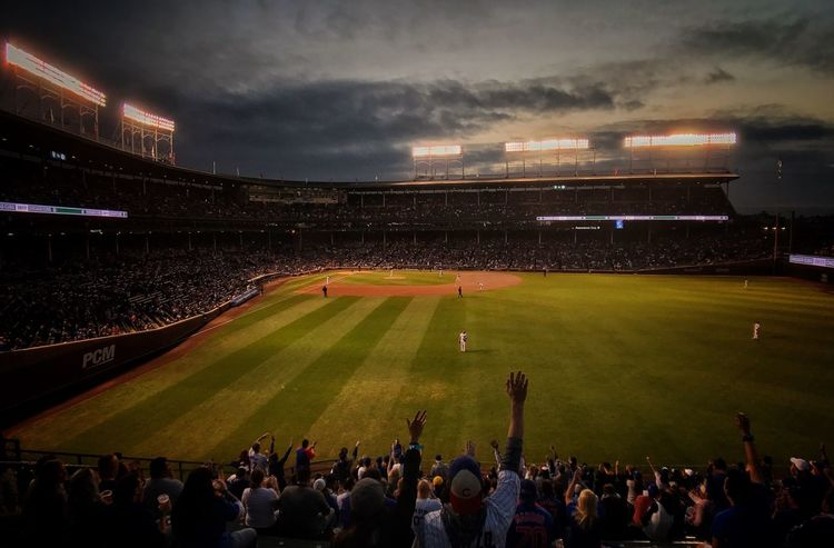 At the friendly confines Chicago Cubs Baseball Wrigley Field Chicago