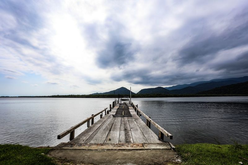 A special place Photo Photography Cloud - Sky Sky Pier Water Lake Tranquility Tranquil Scene Nature Scenics Beauty In Nature Outdoors Mountain No People Day