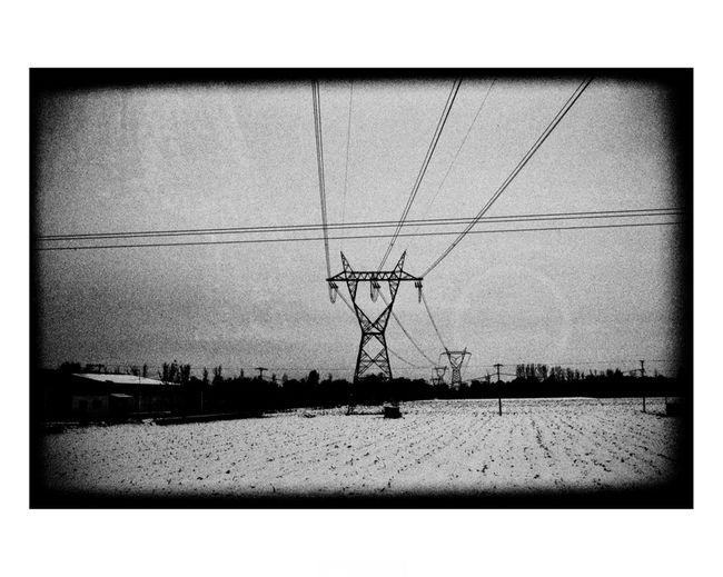 Art Black And White Blackandwhite Blackandwhite Photography Electricity Pylon Fine Art Photography Nikos Pandazaras Power Line  Streetphotography Tranquility Transfer Print