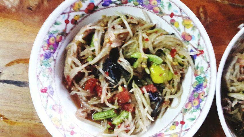 I do love it Dreamsinderellaphoto Dreamsinderella's Foodporn Thailand My Thailand Somtum Thai Lunch Foodporn ร้านส้มตำ อร่อย Aroimak So Tasty Appetizer Meal Papaya Salad Food And Drink Tasty