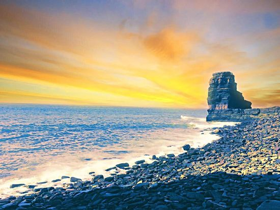 Dreams Sea Horizon Over Water Beach Sunset Water Canada IPhoneography Wave Travel Destinations Scenics Nature Tranquil Scene Beauty In Nature Sky Sand Outdoors Tranquility No People Pebble Cloud - Sky Architecture