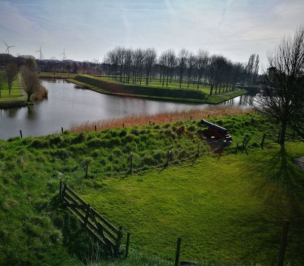 Agriculture Nature Water Green Color Beauty In Nature Rural Scene Scenics Outdoors Canon Last Line Of Defence Defense No People Landscape Dutch Landscape Dutch Countyside Dutch Landscapes Dutch