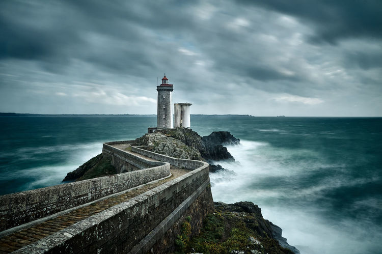 Resistance Architecture Beauty In Nature Building Exterior Built Structure Cloud - Sky Coastline Horizon Over Water Landscape Lighthouse Long Exposure Motion Nature No People Outdoors Scenics Sea Seascape Sky Storm Water Wave Weather