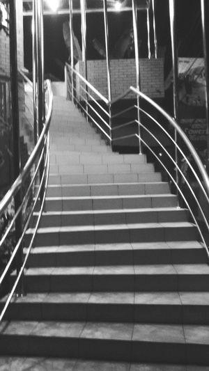 Staircase Architecture Outdoors Blackandwhite Nightphotography Night Lights