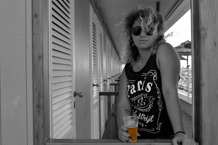 Beachclub Beer Bnw Faces In Places Person Porttrait Summer Sunglasses Young Woman Picturing Individuality Liquid Lunch Women Around The World