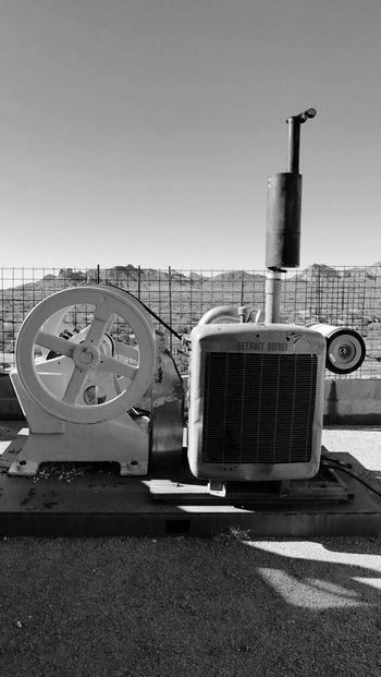 Desert Detroit Diesel Engine Vintage Arizona Mountain