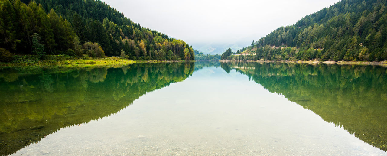 Beauty In Nature Day Forest Lake Landscape Mountain Nature No People Non-urban Scene Outdoors Reflection Scenics Sky Symmetry Tranquil Scene Tranquility Tree Water