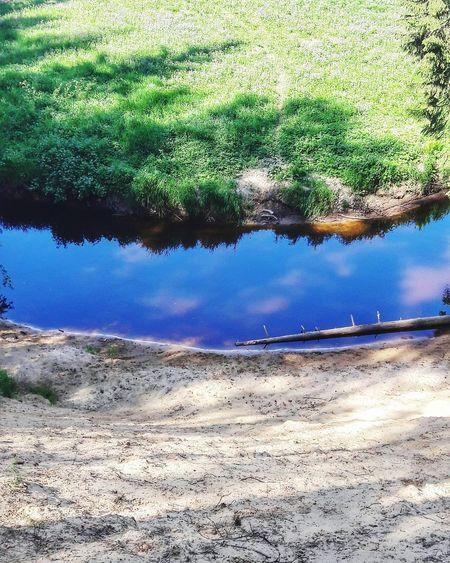 Reflections In The Water Reflection No People Day Outdoor Photography Outdoor Nature_collection Nature River Grass Green Color Green Blue