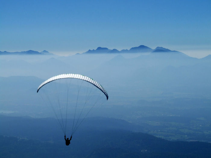 View Of Person Paragliding