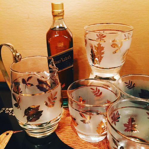 Mid Century Glassware Midcentury Glassware Collection... Glassware Johnny Walker Blue Label