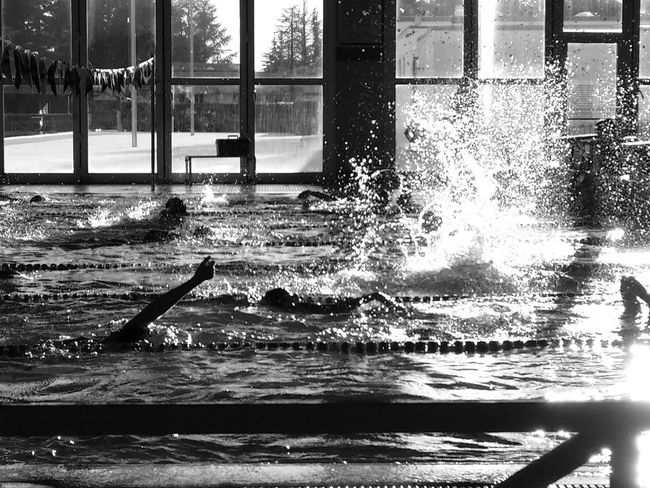 Window Water Indoors  Day Streamzoo Streamzoofamily Swimming Pool Swim Black & White Blackandwhite Photography Black And White Light EyeEm Best Shots - Black + White Eyem Best Shots Blackandwhitephotography