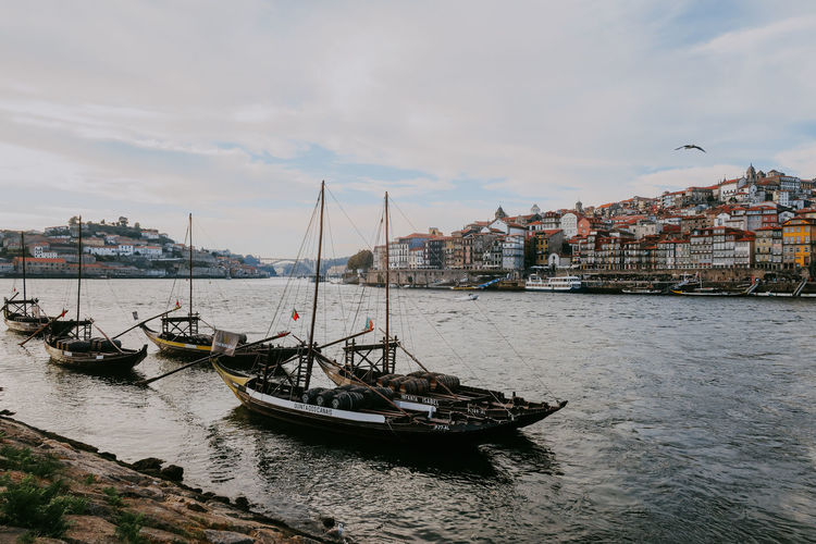Water Nautical Vessel Transportation Sky Cloud - Sky City Sailboat Travel Porto Portugal Travel Destinations