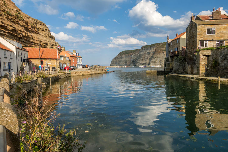 Staithes North Yorkshire Water Architecture Built Structure Building Exterior Building Sky Cloud - Sky Reflection Waterfront Nature Residential District Day City No People Mountain Lake House Outdoors