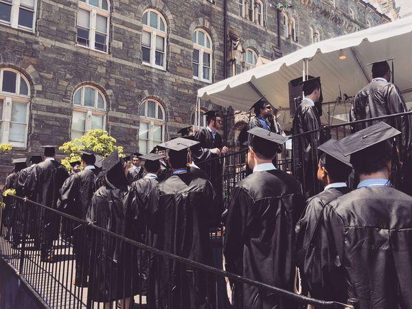 Building Exterior Graduation Men Outdoors People Real People University Campus