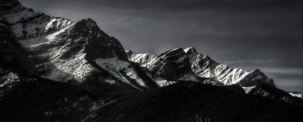 2 more weeks until the ski hills open!! :D I may have to put off my retirement until Im 40...the lure is too strong lol Beauty In Nature Black And White Landscape Low Angle View Mountain Mountain Addict Mountain Peak Nature Outdoors Snow Snowcapped Mountain