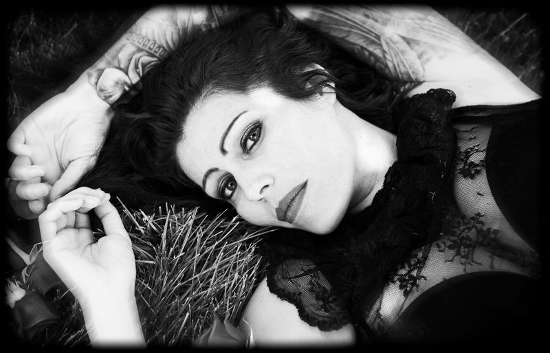 Nikon Beautiful Woman Beauty Black And White Headshot Looking At Camera Lying Down Lying On Back Monochrome One Person Portrait Real People Women Young Adult Young Women