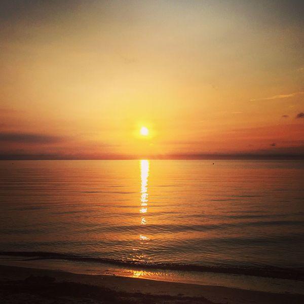 Thiessow Lobbe ruegen Sunset Water Beach Sea Scenics Tranquil Scene Sun