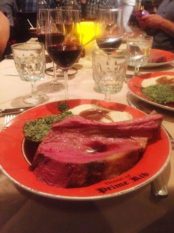 Eating Prime Rib Dinner Social