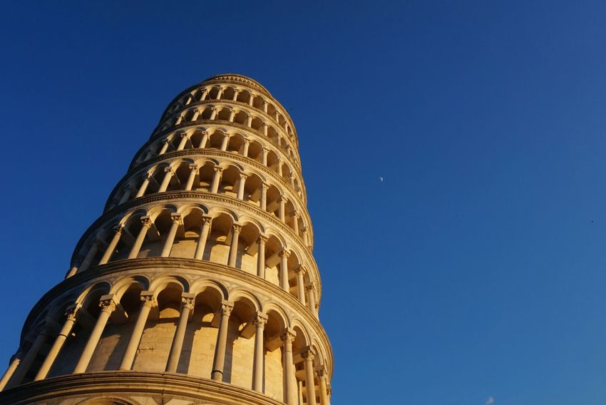 Pisa Tower Pisa, Italy Travelholic Blue Sky