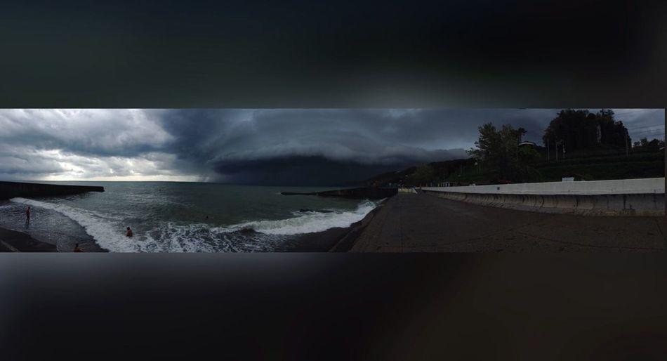 Сочи Новаяволна Sochi небо Море шторм тучи облака