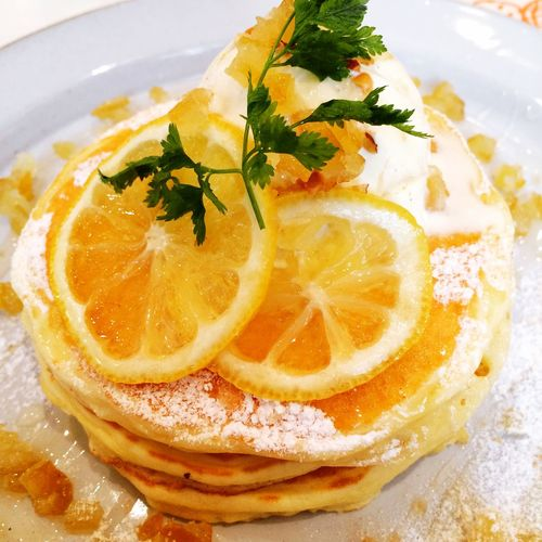 Pancakes Lunch Sweet Delicious Lemon Honey